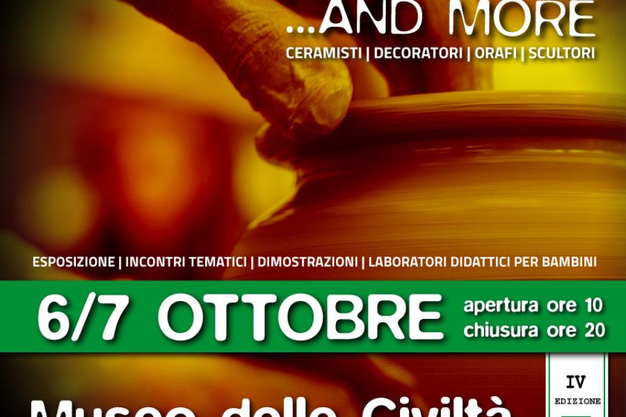 """MOSTRA """"Ceramics and more…."""" presso Museo delle Civiltà a Roma. Sabato 6 e Domenica 7 ottobre ore 10-20"""