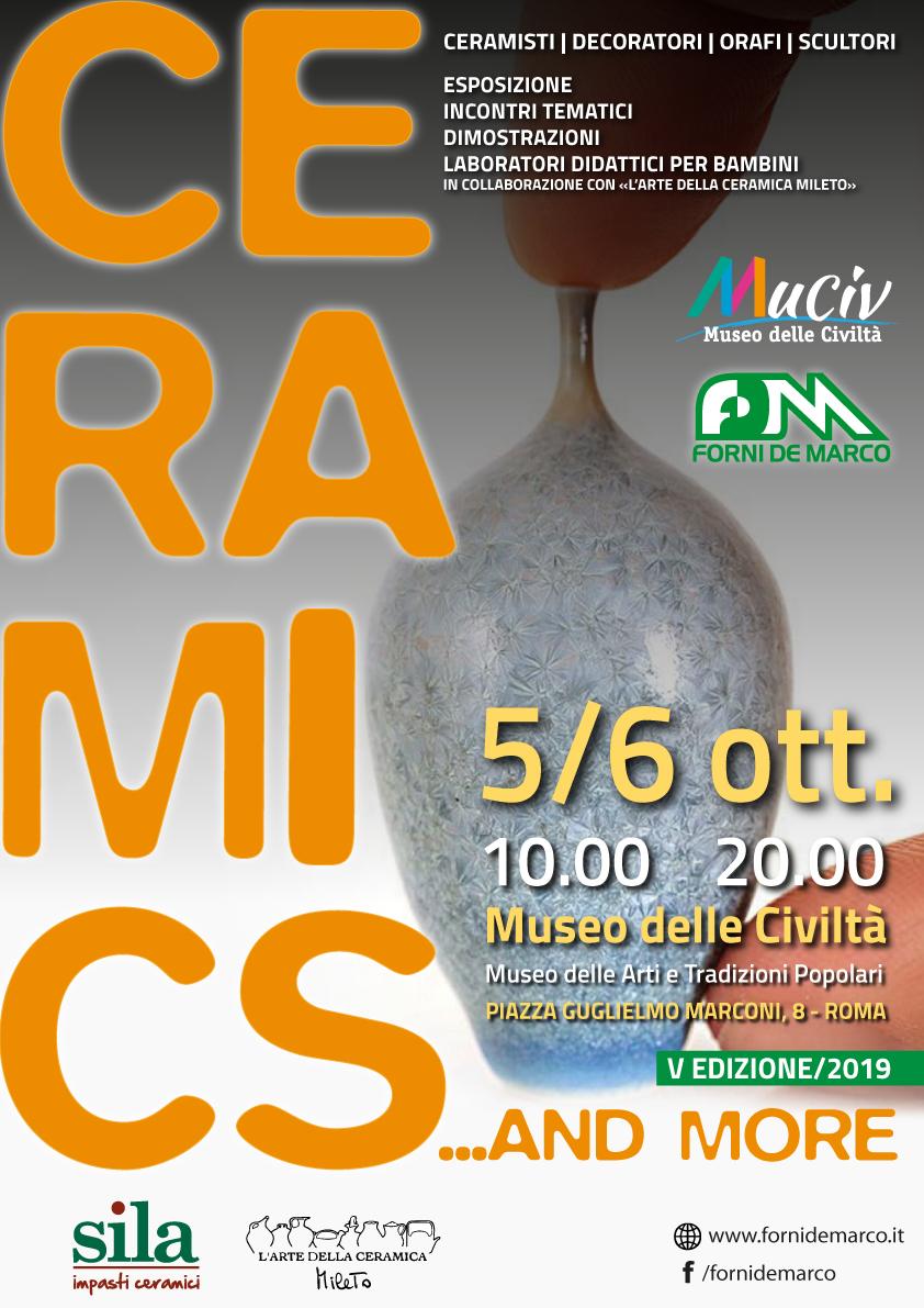 De Marco Ceramica Roma.Mostra Ceramics And More Esposizione Di Creazioni